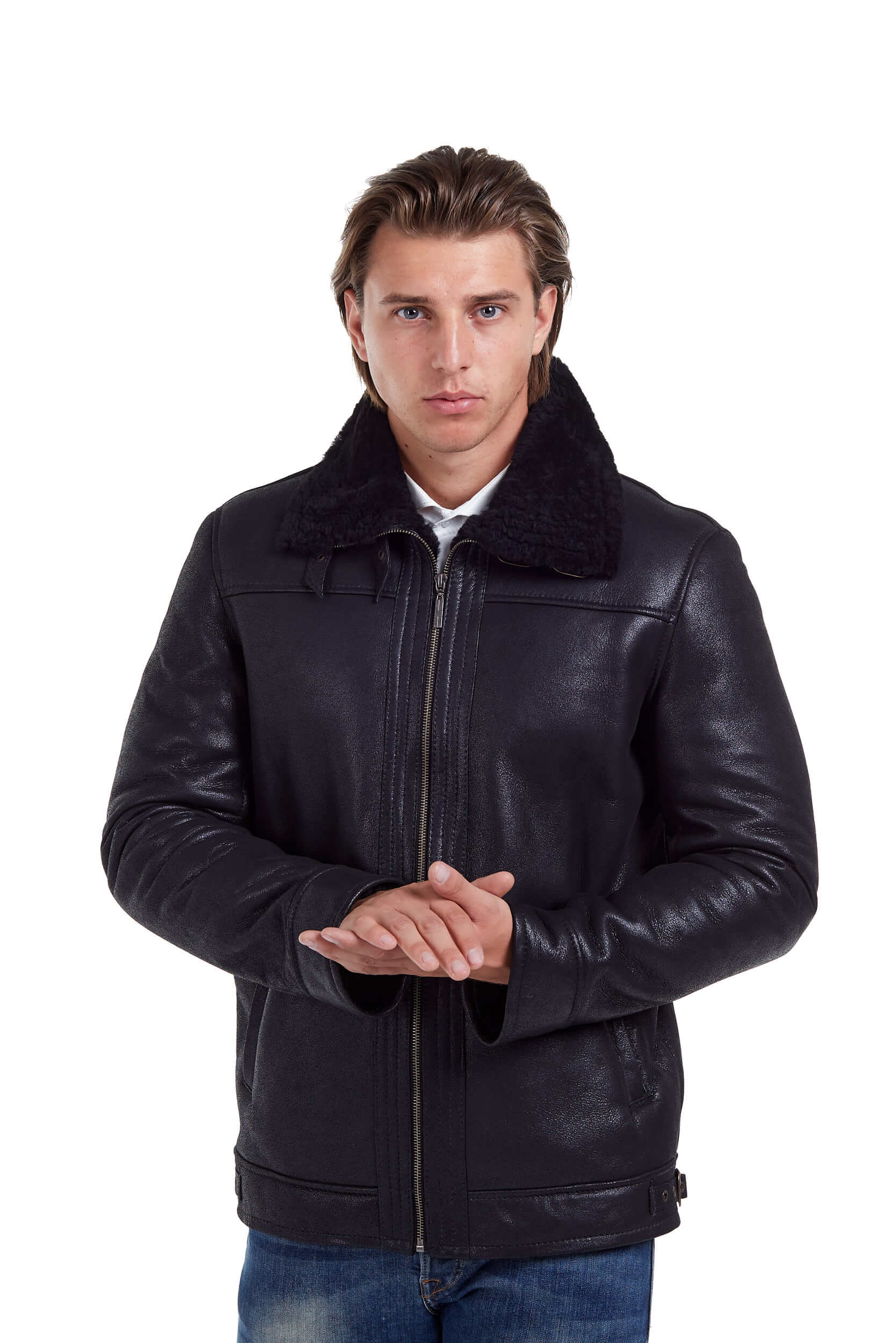 haina de blana neagra pentru barbati