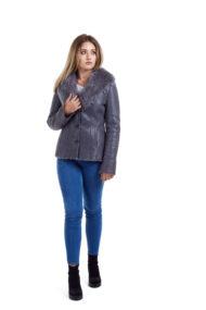 Haina de blana pentru femei model Ani gri