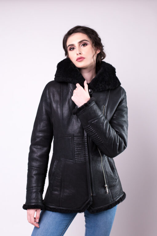haina de blana pentru femei Tabita Negru