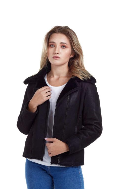 Haine de blana pentru femei model Alexia negru