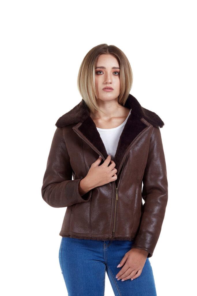 Haina de blana pentru femei model Alexia maro