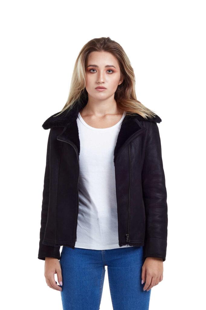Haina de blana pentru femei model Alexia negru