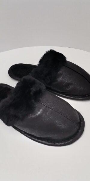 Papuci de Casă cu blană tunsă pentru Femei COD 36 negru