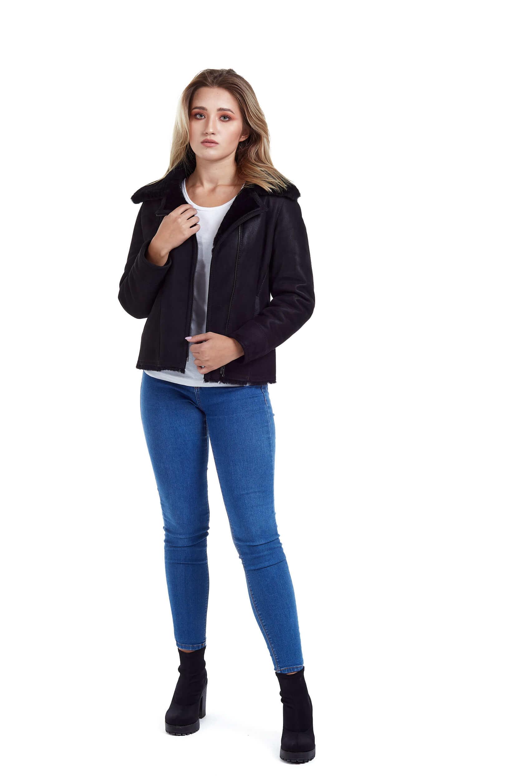 Haina de blana pentru femei model Alexia negru 4