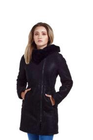 Haina de blana pentru femei model Alis negru (4)