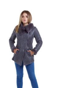Haina de blana pentru femei model Roxana gri 1