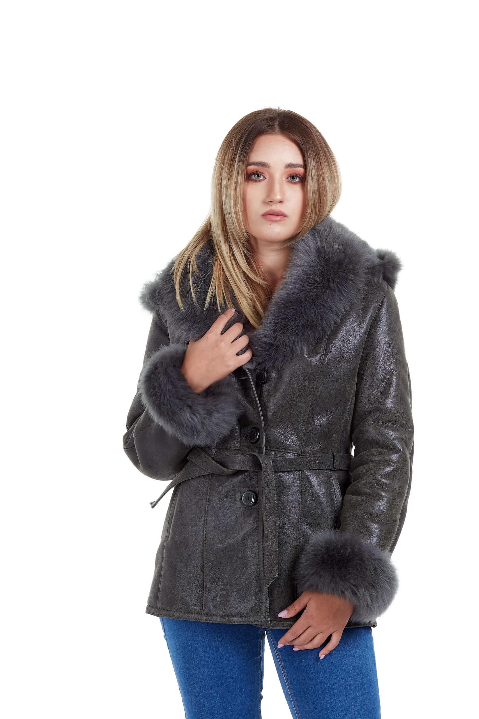 Haina de blana pentru femei model Shakira Oliv 2