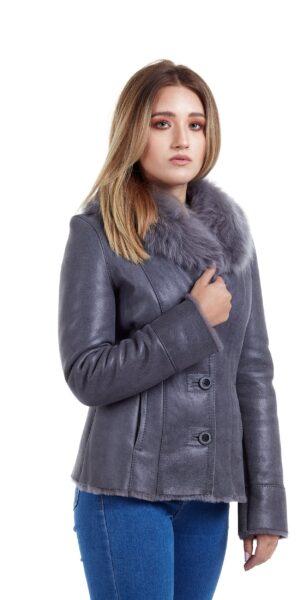 Haine de blana pentru femei model Ani gri