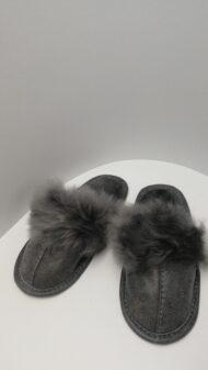 Papuci de Casă cu blană Mare pentru Femei COD 37 gri 1