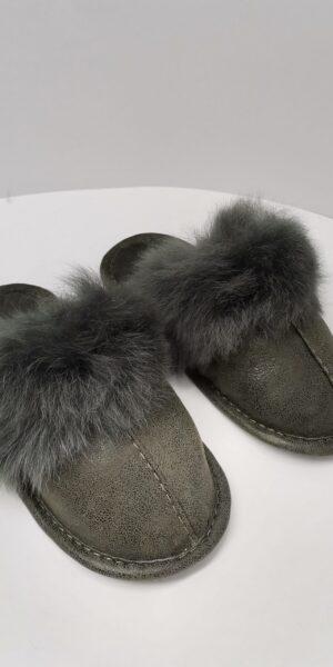 Papuci de Casă cu blană Mare pentru Femei COD 37 oliv 1