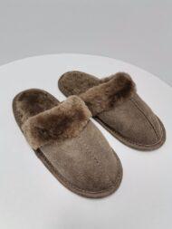 Papuci de Casă cu blană tunsă pentru Femei COD 36 bej 1